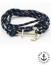Bracelet Anchor homme femme ancre marine Noir Argent Hope encre cordon immanuel
