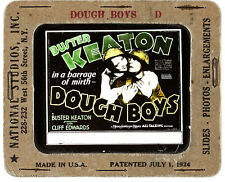 "Magic Lantern Doughboys Movie Glass Slide 3.25""x4"" 1930 VF+ 8.5 Buster Keaton"