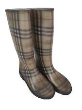 BURBERRY HAYMARKET Plaid Rain Boots NOVA CHECK Size UK6 EU39  Made in ITALY