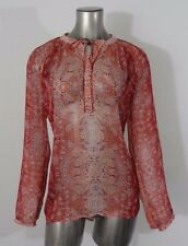 Lucky Brand women's paisley print blouse top XL new