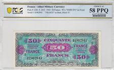 2774 - France, 50 Francs FRANCE, 1944, SUP, PCGS CHOICE AU 58 PPQ F24/2