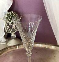 Antik 1 Jugendstil Sektflöte Sektglas Weinglas Glas graviert geschnitten SCHÖN
