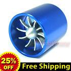 "2.17""-2.5"" 55-64mm TURBO Supercharger AIR INTAKE TURBINE Gas Fuel Saver Fan BLUE"