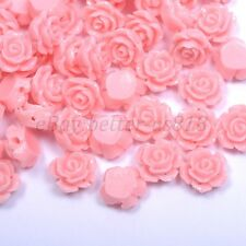 20Pcs Gorgeous Rose Flower Coral Spacer Beads, Color - Choose 10MM, 12MM