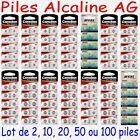 Pile Bouton Alcaline AG0 AG1 AG2 AG3 AG4 AG5 AG6 AG7 AG8 AG9 AG10 AG11 AG12 AG13