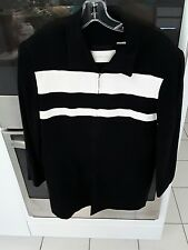 Dana Buchman Size 14 Black and White Stripped Jacket