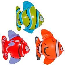 3er Set aufblasbare Fische ca. 20 cm - Party Dekoration Schwimmen
