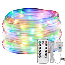 LE Dimmable 10M 100 LEDs Rope Light,USB Powered RGB Waterproof Fairy Light Timer
