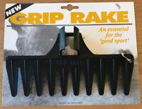 Golf Bunker Personal Black Grip Rake Golf Present / Accessory