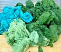 Wool Rovings-Botany Lap Waste-100g Greens-Tops-Felting-Spinning-Crafts-Toys-WO5