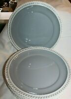 """Vintage Harker Chesterton Gray lunch / salad  plates 7.25"""" wide -  lot of 2"""