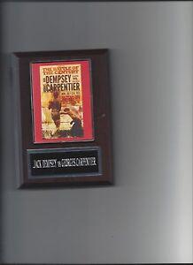 JACK DEMPSEY vs GEORGES CARPENTIER POSTER PLAQUE BOXING CHAMPION PHOTO PLAQUE