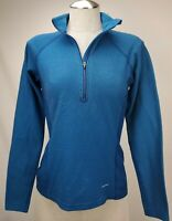 Patagonia Womens Half Zip Base Layer Top Size Medium M Blue Heavyweight Pullover