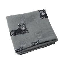Womens Cute Cat Print Long Scarf Soft Yarn Wrap Shawl Stole Neck Warm Scarv D4Z4
