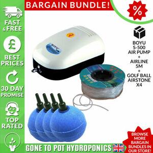 Boyu S Air Pump Discount Bundle - S500, Airline 5m, Golf Ball Airstone x4