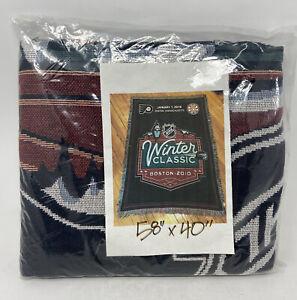 "NHL Winter Classic Boston 2010 Flyers Bruins Blanket 58""x40"" Brand New"