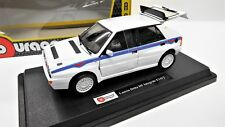 MODELLINO AUTO LANCIA DELTA HF INTEGRALE BURAGO SCALA 1/24 CAR MODEL MINIATURE