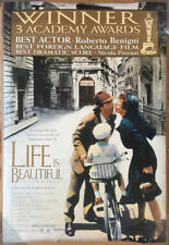 Life Is Beautiful Movie Poster 2 Sided Original Academy Rolled 27x40