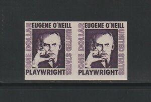 US EFO, ERROR Stamps: RARE! #1305Cd Eugene O'Neill. Imperf pair! MNH. $1250.00