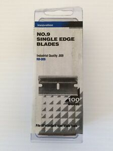 No 9 Single Edge Razor Blades Industrial Quality .009 Pack of 100 Blades New