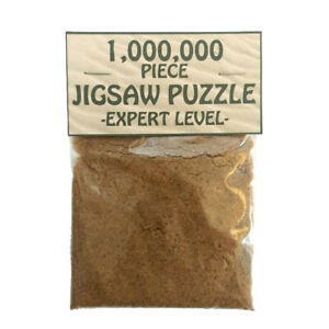 MILLION PIECE JIGSAW Joke Puzzle / Birthday Gift / Funny Present / Quirky Humour