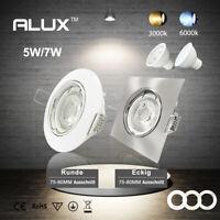 ALUX 6x 5W GU10 LED Einbaustrahler Einbauleuchten Deckenspots Leuchte schwenkbar
