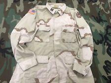 US ARMY JACKET CAMO BDU SHIRT CAPTAIN TEXAS NATIONAL GUARD HQ PATCH ORDNANCE