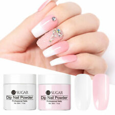 2 Boxes White Pink Dipping Powder French Nail Dip System Natural Dry 30ml 1oz