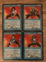 4x FORCE OF WILL ALLIANCES SIGNED GOLD TERESE NIELSEN ARTWORK ROCKSTARS MTG
