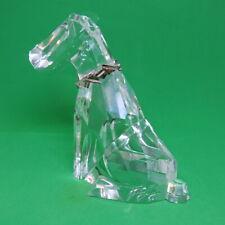 "Swarovski ""The Dog"" Crystal Scottie Dog 4 1/2"" Silver Collar"