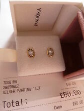 Stud Sterling Silver PANDORA Fine Earrings without Stones