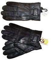 Lot of 2. Men's leather gloves, (XXL) Black Unbranded hand warmer winter gloves