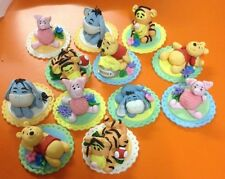 4 Pooh Bear Tigger Eeyore and Piglet Edible Fondant Cup Cake Toppers