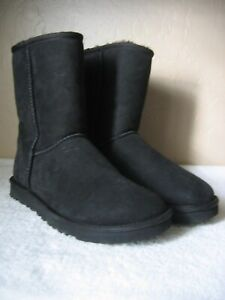 Auth New Ugg AUSTRALIA Class Suede Short Boots Black Size 9