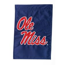 "Ole Miss Rebels  12.5"" x 18"" Two Sided Applique Garden Flag"