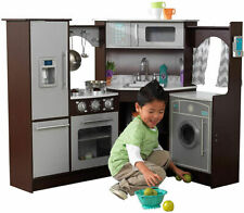 Kids Little Chefs Cooking Play Kitchen with Lights & Sounds for Boys and Girls