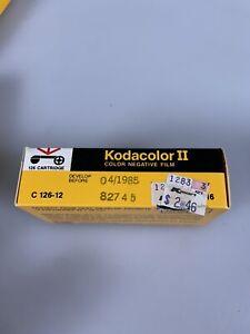 Kodacolor II Color Negative Film 126 Cartridge C 126-12