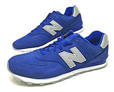 New Balance 574 Mens Shoes Size 18 Wide 2E UV Blue/White/Silver ML574SYA