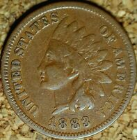 1883 Indian Head Cent - ATTRACTIVE FINE COIN, READABLE LIBERTY (K822)