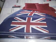 """parure de lit housse de couette + taies 2 personnes """"flag blue"""" - neuve"""