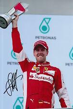 Sebastian Vettel Hand Signed 12x8 Photo F1 Scuderia Ferrari 20.