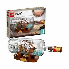 LEGO Ideas Ship in a Bottle 21313 Expert Building Kit Model Ship, Collectible...