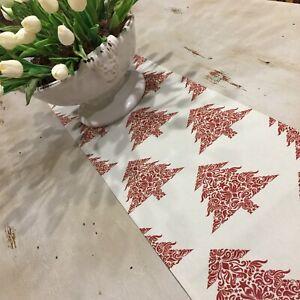 Christmas Table Runner, Red & Taupe Table Runner, Quality Australian Handmade