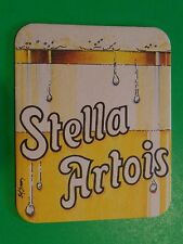Beer Coaster ~*~ STELLA ARTOIS <> Leuven, BELGIUM Brewery Since 1365 ~ Head Shot