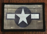 WWII P51 Mustang US Star Morale Patch Tactical ARMY Hook Military Flag USA