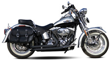 Buzzsaw BLACK Exhaust Pipes by Paul Yaffe Made in USA Harley Touring 1993-2014