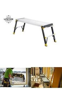 Work Platform Fiberglass Slim-Fold with 375 lbs. Cap Load 20 in. Standing Height