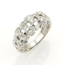 Tiffany & Co. Diamonds Open Basket Weave Band Ring in 18k White Gold Size 5.25