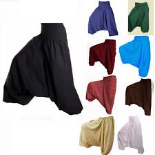 Lot 10 pcs Rayon Ali Baba Indian Harem Pants Baggy Hippie Solid Color Plain Pant