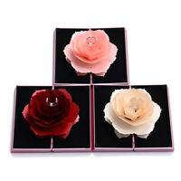 Folding 3D Rose Ring Box Birthday Jewelry Display Boxes Gift Wedding Valent  rs